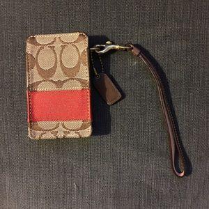 Coach Accessories - Coach iPod Case Signature C's w/ Orange ColorBlock